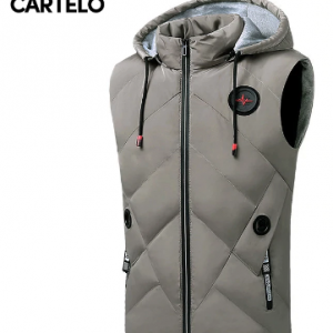 CARTELO men vest fashion new warm hooded slim comfortable casual vest men му discountshub