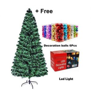Christmas Special 4ft Christmas Tree + Multicolor Led Light +1 Pck Accessories discountshub