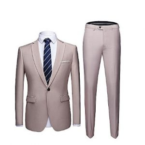 Corporate Men's Suit - Light Brown discountshub