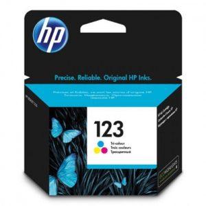 HP 123 Tri-color Original Ink Cartridge (F6V16AE) discountshub