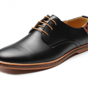 Large Size Men Lace Up European British Style Flat Casual Oxford Shoes discountshub