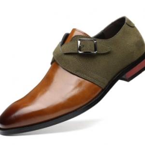Men Stylish Colorblock Splicing Wearable Casual Formal Dress Shoes discountshub