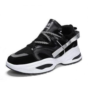 Mens Fashion Sneakers Sports Running Shoes Black discountshub