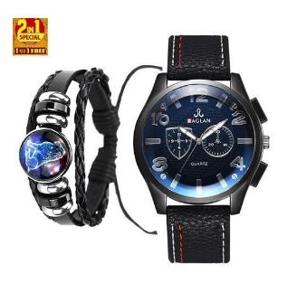 Raglan 2 In 1 Men's Watch & Lion Head Bracelet-V2 discountshub