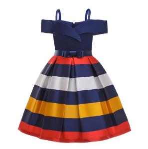 Girl Kid Toddler Pageant Leaky Shoulder Dinner Party Dresses discountshub