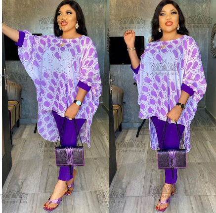 2020 Dashiki African New Fashion Suit (Dress and Trousers)Bat SLeeve Suit Super Elastic African For Lady(YDTZ02#) discountshub