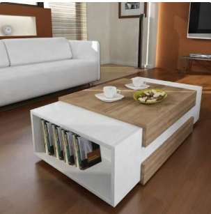 Multipurpose Center Table Coffee Table Chair With Book Shelf Furniture (Nationwide Delivery) discountshub