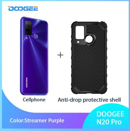 "DOOGEE N20 Pro Quad Camera Mobile Phones Helio P60 Octa Core 6GB RAM 128GB ROM Global Version 6.3"" FHD+ Android 10 OS Smartphone discountshub"