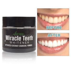 Miracle Teeth Activated Natural Teeth Whitening Coconut Charcoal Cleaner discountshub