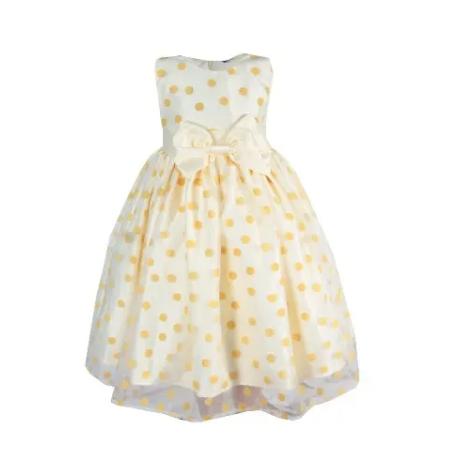 Baby Girls' Organza Dress -Yellow discountshub