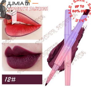 Double Head Lip Liner Waterproof Matte Long Lasting Cherry discountshub