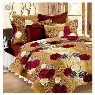 Spice Bedsheets Soft Bed Sheet +4 Pillow Case(s) discountshub
