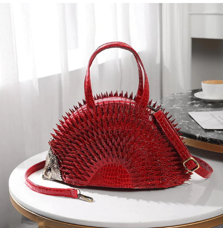 DIINOVIVO Simulation Hedgehog Styling Women Handbags Famous Brand Crocodile Patent Leather Bags Women Shoulder Bag Tote WHDV1217 discountshub
