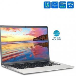 Portable 14 Inch Laptop Silvery Ram 6GB+ Rom 64GB High Definition 2.4Ghz TF Card Ultrathin Computers discountshub