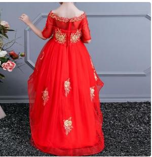 Children Kids Classy Gown- RED discountshub