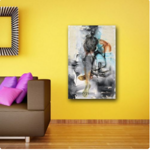 Awesome Abstract Lonely Lady Wall Canvas discountshub