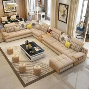 Executive Noble Pro U Shape Sofa (free Center Table & 4 Side Stool) discountshub