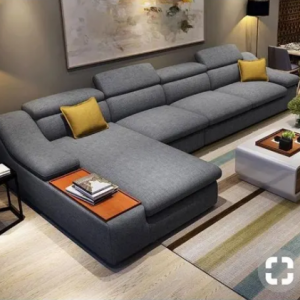 L - Shape Sofa - Grey discountshub