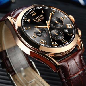 2020 LIGE Watches Men Brand Luxury Watch For Men Waterproof Chronograph Quartz Clock Fashion Leather WristWatch+Box Reloj Hombre discountshub