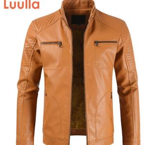 2020 Men Spring New Vintage Casual Style Fleece Leather Jackets Coat Men Outwear Fashion Motor Bike Faux Leather Jacket Men discountshub