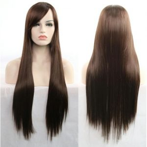 Anime Wig Cosplay Cosplay 80cm Long Straight Hair-black-brown discountshub