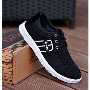 Fashion Hut Unisex Fashion Sneakers - Black discountshub