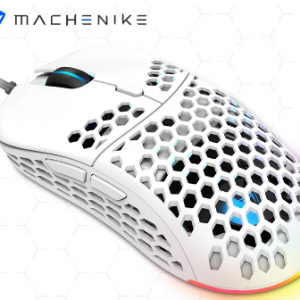 Machenike Gaming Mouse PMW3325 Optical Sensor 60g Light Wired Mice 6400DPI Adjustable Programmable RGB For PC Laptop USB Cable discountshub