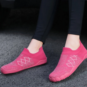 Women Casual Breathable Knitted Toe Outsole Slip On Sneakers discountshub