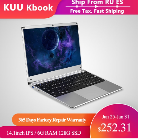 14.1 Inch Student Laptop 6G DDR4 RAM 128G 256G SSD Notebook Full Layout Keyboard WiFi Bluetooth for Game Portable PC discountshub