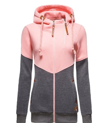 2021 New Spring Hoodied Sweatshirt Ladies Casual Patchwork Slim Womens Jackets Brand Warm Long Style Buttocks Hoodies Women discountshub