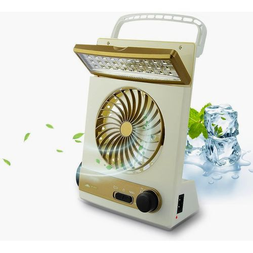 3 In 1 Solar Powered And Dc Powered Lamp With Super Wind Adjustable Fan And Spotlight Tourch discountshub
