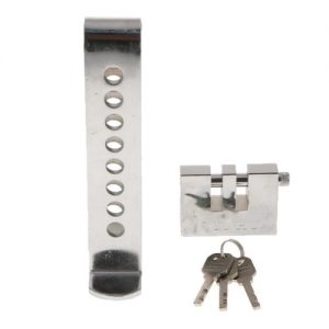 8 Hole Brake Pedal Lock Car Auto Stainless Steel Clutch Lock Anti discountshub