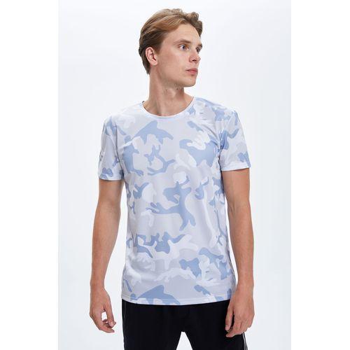 Defacto Man Grey Short Sleeve Knitted Tops R6560AZ-GR293 discountshub