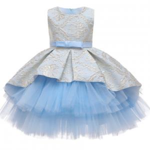 Flower Vintage Embroidery Baby Girls Dress Opening Ceremony Clothing Tutu Party Elegant Wear Girls Princess Dress Kids Vestidos discountshub