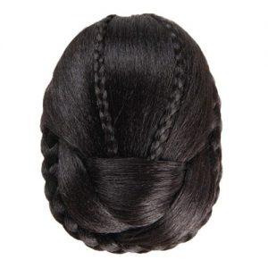 Hair Braided Wig Bun BK discountshub