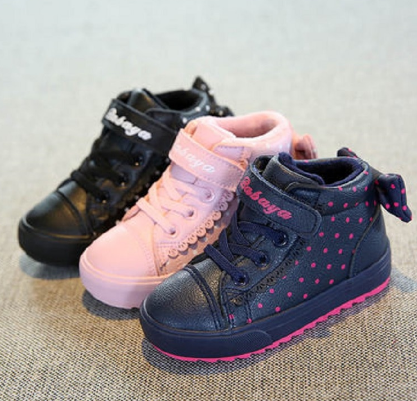 Kids Winter Shoes For Girl Children boots Boys Warm 2019 New baby Shoes Plus Velvet Toddler Winter Boots Girl botas pink sneaker discountshub