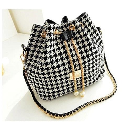 Ladies' Bucket Pearl Shoulder Messenger Handbag - Multicolor discountshub