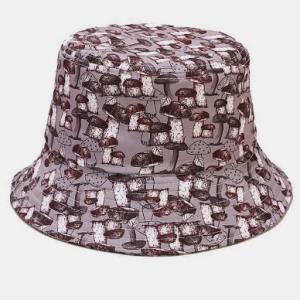 Men & Women Multi Mushroom Printing Sunshade Fashion Couple Bucket Hat discountshub