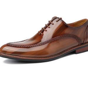 Menico Men Stylish Leather Non Slip Formal Dress Shoes discountshub