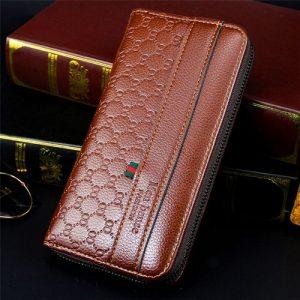 Men's Wallet Purse Long - Light Brown discountshub