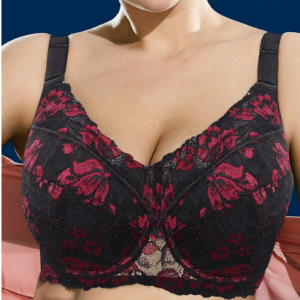 Plus Size Push Up Embroidery Thin Full Coverage Cotton Linning Gather Bras discountshub