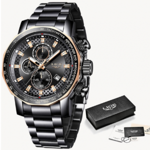 Relogio Masculino LIGE New Sport Chronograph Mens Watches Top Brand Luxury Full Steel Quartz Clock Waterproof Big Dial Watch Men discountshub