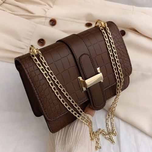 Women's Shoulder Messenger Handbags- Brown discountshub
