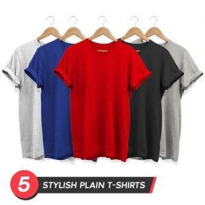 5 In 1 Plain Roundneck UNISEX T-Shirts Polo discountshub