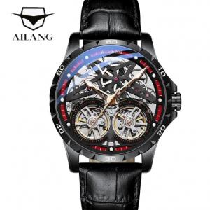 AILANG Original Men's Watch Double tourbillon watch Automatic Hollow-out Machine Watch Men Luminous Waterproof 2020 New design discountshub