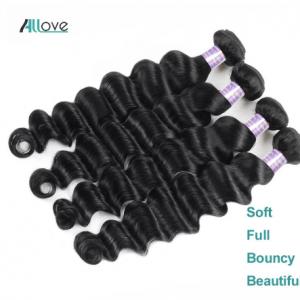 Allove Loose Deep Wave Bundles Peruvian Hair Bundles Human Hair Extensions 1/3/4 Bundles Deals Non Remy Hair Weave Bundles Weft discountshub