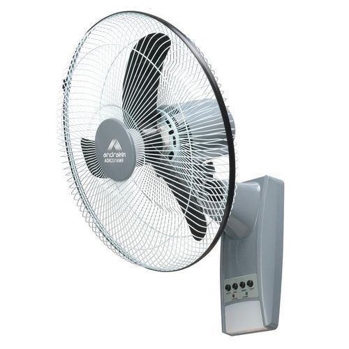 Andrakk Rechargeable 16'' Wall Fan With Remote Control discountshub