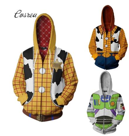 Autumn Men European and American 3D Printing zipper Jacket Hooded sweater discountshub