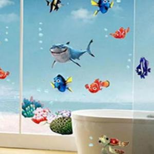 Colorful Underwater World Wall Sticker Living Room Creative Decal discountshub