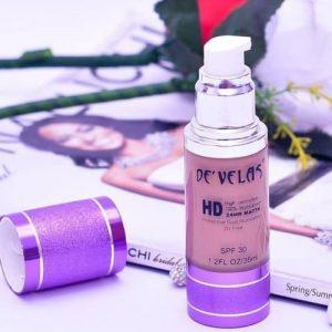De'Velas HD 100% Waterproof 24HR Matte Oil Free Protective Fluid Foundation discountshub